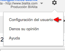 configuracion de usuario google analytics