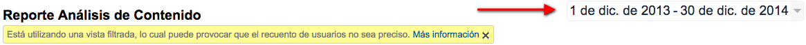 google analytics fechas