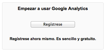 google analytics registro